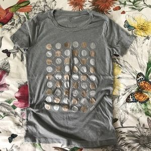 J. Crew Collector Tees gray T-shirt